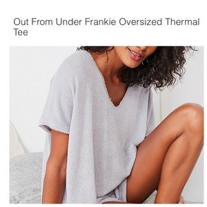 Urban Outfitters Frankie Oversized Thermal Tee